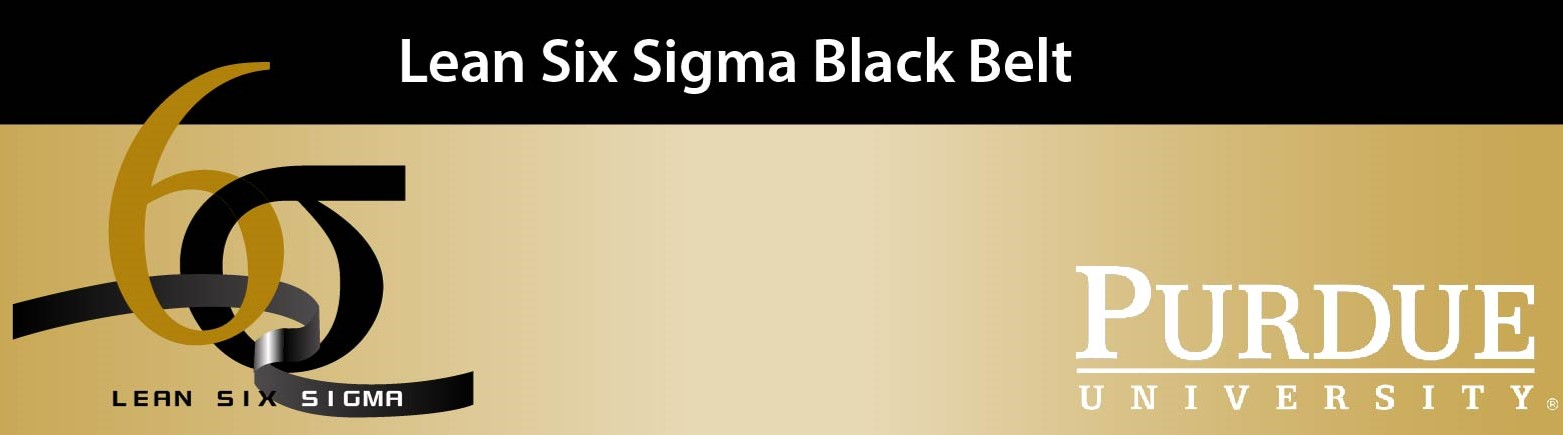 Purdue Digital Education Lean Six Sigma Black Belt F March 2019